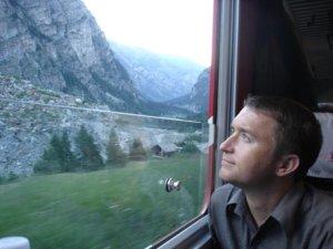 Train from Brig to Zermatt, Switzerland, 2007